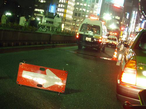 2009年夏、高速道路で同時多発事故発生