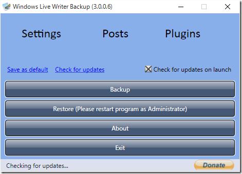 Windows Live Writerのアカウント情報をバックアップ・リカバリする方法